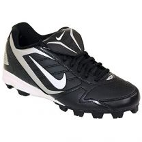 Nike Men's Keystone Low 375760 011 Black White Baseball Cleat