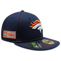New Era Men's Denver Broncos Official NFL Sideline Road 59Fifty Fitted Cap
