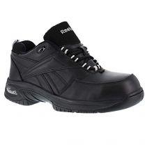 Reebok Womens Black Leather Athletic Oxford TYAK Composite Toe
