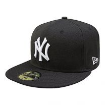 New York Yankees Black with White 59FIFTY Fitted Cap