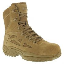 "Reebok Work Rapid Response RB 8"" Composite Toe Men's Boot Brown"