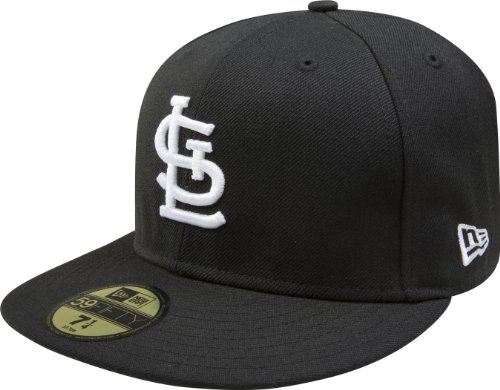 20f4003196c New Era MLB Black with White 59FIFTY Fitted Cap Color St. Louis ...